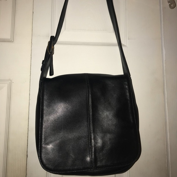 Coach Handbags - Black GENUINE LEATHER Coach Should Bag